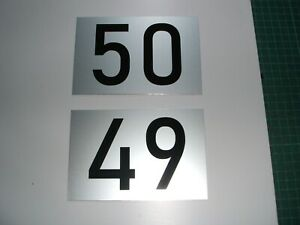 hausnummer Zahl Nummer Schild silber eloxiert mit Wunschzahl