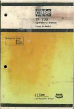 Case (Davis) Trencher TF700 Operators Manual