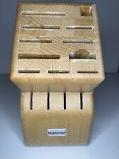 Wusthof 15-Slot Knife Block 11 + 4 steak knives - Wood Hardwood