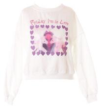 TS-170-1 Weiß Pony Herzen Stickerei Pastel Goth Lolita Pullover Sweatshirt