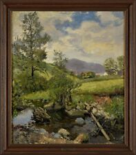 Altes Gemälde Öl Landschaft Carl Wilhelm Mosblech