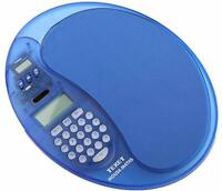 Mouse Pad CALCULATOR  TEXET BLUE Giant Display Dual Power + Timer Office Home