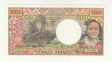 French Pacific Territories 1000 francs circ. (pressed) p2b @ low start