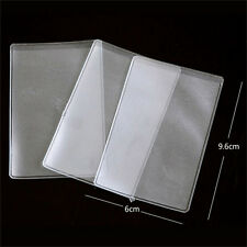 10X PVC Credit Card Holder Protect ID Card Business Card Cover Clear Frosted ka