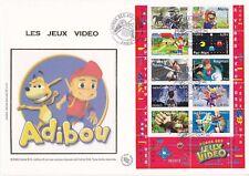 Enveloppe grand format 1er jour 2005 Jeux Vidéo Héros des jeux vidéo
