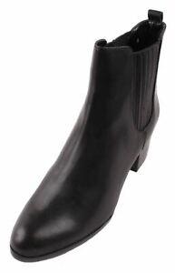 Zoe + Luca Winston-Z Women's Black Leather Heeled Ankle Boots size 8