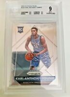 2015-16 KARL ANTHONY TOWNS PANINI PRIZM RC #328 BGS 9 MINT ROOKIE CARD