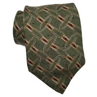 Bill Blass Black Label Silk Tie Green Gold Red Atomic Style Necktie