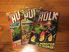 3 Vintage Incredible Hulk Marvel Comics # 144, 146, 149