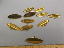 """lot of 11 gold medal trophy award pin with hanger 1 1/2"""""""