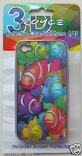 PHONE CASE - (Fish) Protective Case & Screen Protector for i Phone 4s case.  New