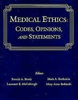 Medical Ethics : Codes, Opinions Et Statements Couverture Rigide Baruch A. Brody