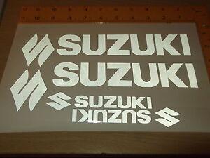 SUZUKI WHEEL STICKERS *REFLECTIVE * Motorcycle/Motorcross l Sticker Decals X4