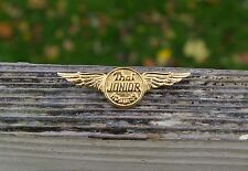 Thai Junior Air Hostess Wings Flight Attendant Gold Tone Metal Pinback Brooch