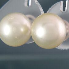 OHRSTECKER - 2 große Südsee-Perlen Ø 14,5 mm mit schönem Lüster! 18K Gold - NEU!