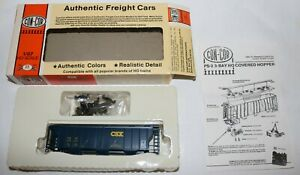 Vintage Con-Cor CSX HO Scale PS-2 Covered Hopper Kit New Old Stock Complete