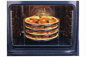 5 teiliges Zenker Pizzabäcker Pizza Set 4x Pizzableche + 1x Gestell Backofen