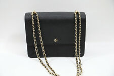 Tory Burch Robinson Convertible Shoulder Bag  BLACK Gold hardware