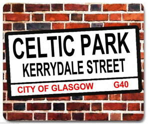 CELTIC PARK KERRYDALE STREET london sign MOUSEMAT scottish football mouse mat
