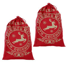 Christmas Santa Sack Large Xmas Jute Bag Christmas Gift Presents Stocking Filler