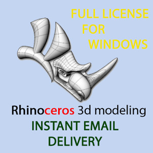 Rhinoceros 3d CAD 7 for windows  -full commercial license