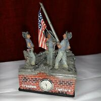 911 Freedom fighters USA United We Stand NEW in Box Figurine Clock