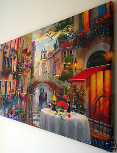 VENICE CANVAS PRINT WALL ART  PICTURE 18 X 32  INCH