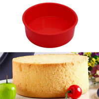 6''Round Silicone Cake Mold Pan Muffin Pizza Pastry Bread Baking Tray Mould FR