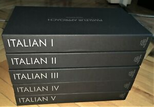 Italian Language Study Audio Course I, II, III, IV & V Gold 80 CD's Рimsleur