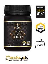 BeeNZ echter originaler und authentischer Manuka Honig MGO514 mg/kg UMF™15+ 500g