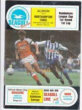Brighton v Northampton Town 1990 / 91 League Cup Rd 1 - August 29th