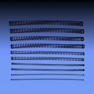 lange Druckfedern aus Federstahldraht 3, 4, 5, 6, 7, 8, 9, 10 mm, Set je 2 Stück