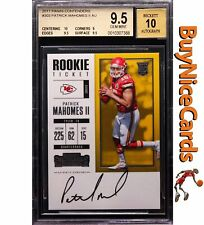 2017 Patrick Mahomes Panini Contenders RC Rookie SP Auto /212 BGS 9.5 / 10