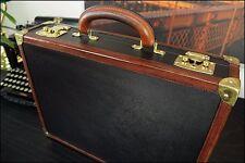 Auth BOTTEGA VENETA Italy Vtg Premium Diplomat Hard Case Leather Briefcase Bag