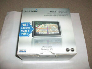 "New Garmin Nuvi 1350LMT 4.4"" GPS Unit in retail box Lifetime Maps & traffic Ed."