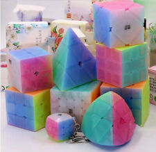 9PACK QiYi Candy Color Magic Cube Ultra Smooth Speed Cubing Twist Puzzle Clear