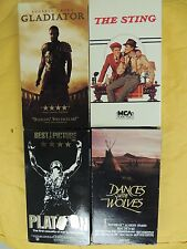 4 Best Picture Winner VHS: Gladiator, The Sting, Platoon, Dances With Wolves
