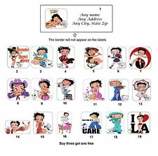 Personalized Return Address Betty Boop Labels Buy 3 Get 1 free (mo2)