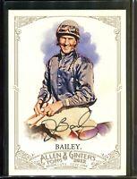 Jerry Bailey Jockey Horse Racing Topps Allen & Ginter Signed Card Autograph *1