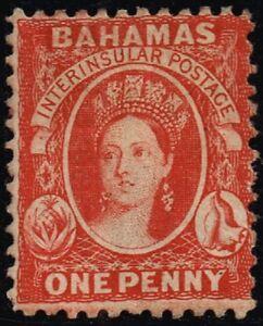 Bahamas 1882 1d. scarlet-vermilion, MH (SG40)