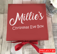 PERSONALISED CHRISTMAS EVE GIFT BOX NAME Xmas Present Custom Santa Sticker Decal