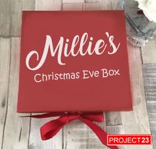 PERSONALISED CHRISTMAS EVE GIFT BOX NAME Xmas Present Custom Santa Sticker Decal