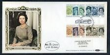 Great Britain 60th Birthday of HM Queen Elisabeth 2nd  silk first day cover #18