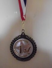 1ST FIRST PLACE MEDAL MEDALLION AWARD RIBBON FULL COLOR  PERSONALIZED FREE