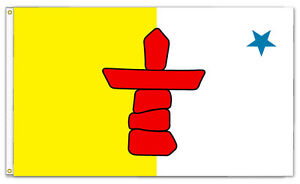 Nunavut Native 3ft x 5ft Flag/Banner  (90cm x 150cm) (New in Package)