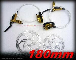 new Swordfish MK series hydraulic disc brakeset 180mm Gold by hygia