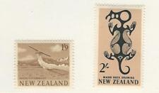 New Zealand, Postage Stamp, #346-347 Mint Hinged, 1960 Airplane