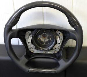 DTM Style Airbag Lenkrad Airbaglenkrad CARBON Leder Mercedes W124
