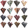 Men Fashion Flowers Paisley Pattern Cotton Handkerchief Hanky Pocket Square