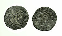 pcc1744_3) BRINDISI Federico II (1197-1250) Denaro con F tra Stelle SP. 148